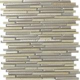 Strips unico Glass Mixed Marble Mosaic Tiles per 2016