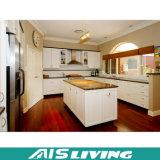 Mobília feito-à-medida dos gabinetes de cozinha da L-Forma com gabinete do console (AIS-K128)