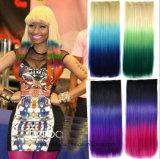 Di vendita di colore di pendenza estensioni sintetiche diritte calde dei capelli della parrucca lungamente