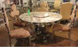 Mobília de vidro dobro da sala de jantar dos pés do aço inoxidável