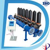 Fabricante hidráulico do filtro de água dos discos plásticos pretos da carcaça