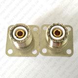 Pl259 zet het UHFWijfje van de Hefboom So239 aan Vrouwelijke Schakelaar 4 de Flens van het Gat Coaxiale Adapter op