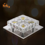Luz de cristal de controle remoto moderna do candelabro do diodo emissor de luz da luz de teto