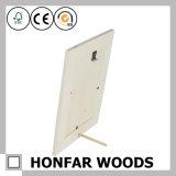 Weißer Farben-festes Holz-Abbildung-Foto-Rahmen für Geschenk