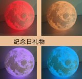 Varia lampada di Luna dell'indicatore luminoso di notte della ricarica del USB di stampa di formati 3D, lampada del LED Luna per il diametro 8cm della scuola materna della stanza del capretto della stanza della base