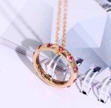 A corrente por atacado Fing do ouro de Rosa soa a colar da jóia do pendente