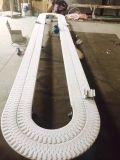 Transportador flexible blanco de Hairise con 90 grados Turnning