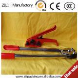 Herramienta que ata con correa plástica manual de la herramienta de Strappping de la mano de la herramienta que ata con correa