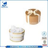 Коробка подарка выдвиженческого круглого картона белая