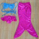 Kinder Drei-Stücke Nixe-Schwimmen-Badebekleidung