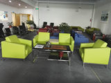 Secretária de couro verde cadeira de sofá (8553)