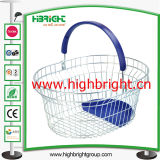 Plastic TrayのプラスチックHandle Metal Wire Shopping Basket