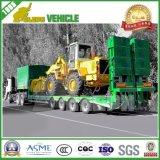 Cimc 3車軸低いベッドのトレーラー60トンの頑丈な装置の輸送の