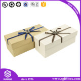 Caixa de presente de papel de empacotamento de papel feita sob encomenda por atacado da fita