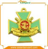 Medalla plateada del metal del oro con la cinta