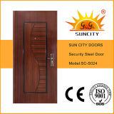 Дверь внешней нержавеющей безопасности стальная, стальная дверная рама (SC-S024)