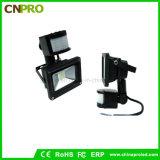 Proiettore del sensore LED di vendita diretta 10W PIR della fabbrica