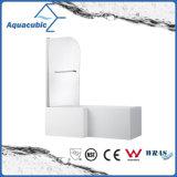 Pièce jointe simple en verre de douche de salle de bains et écran de douche (AQ-GLHY601A)