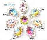 Preço de fábrica com a decoração bonita da arte do prego do metal 3D dos estoques dos ricos com cristal grande