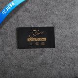 Mancha feita sob encomenda high-density etiqueta tecida para o vestuário dos miúdos
