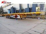 Tri-Welle 40-60ton Ladung-Plattform-halb Schlussteil mit Behälter-Verschlüssen