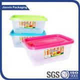 Rectángulo plástico disponible del envase de alimento