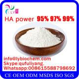 La fábrica suministra el sodio cosmético puro Hyaluronate del grado de Pharma del grado de la categoría alimenticia del 100%