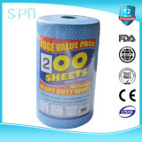 200PCS Big Roll Spunlace Nonwoven Cleaning Cloth Wipe