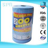 Wipe ткани чистки Spunlace большого крена 200PCS Nonwoven