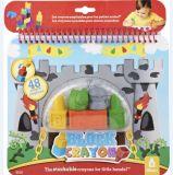 3D子供または子供または赤ん坊のデッサンのための別の整形ワックスクレヨンの箱