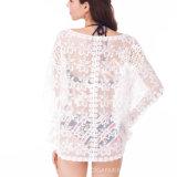 Summernの女性(BL-251)のための新しく緩い着物の袖のかぎ針編みのブラウス