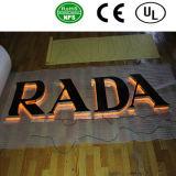 Edelstahl-Kanal-Zeichen-Zeichen des Qualitäts-rückseitige Lit-LED