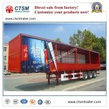 Tri-Alxe trockener Kasten Side Curtain Van Type Semi-Trailer