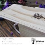 Venta al por mayor por encargo del rectángulo de madera del vino de la boda de Hongdao
