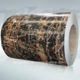 Bobina ricoperta colore di marmo della lamiera di acciaio del grano, PPGI, PPGL