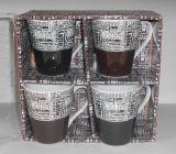 Jogo de jantar novo cerâmico da porcelana das canecas de China de osso do copo & da caneca dos utensílios de mesa