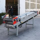 粉のコーティングのための空気冷却ベルトシステム