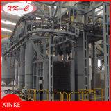 Machine continue de grenaillage de cylindre de gaz de crochet de bride de fixation