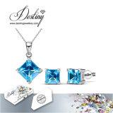 Het Kristal van de Juwelen van het lot van Swarovski de de Geplaatste Tegenhanger en Oorringen van de Prinses van 7 Dagen