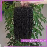 Fermeture brésilienne de cheveu de fermeture avant de lacet