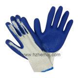 Ровным покрынная латексом перчатка работы безопасности перчаток ладони