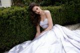 Robe de mariage pourpre de ceinture de taffetas (WDQH013)