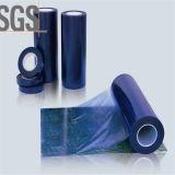 70micはプラスチックストレッチ・フィルムLDPEの青い保護フィルムを取り除く
