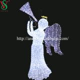Il motivo della decorazione illumina l'angelo