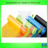 Sacchetti di Drawstring di plastica, sacco di plastica dei rifiuti con Drawtape
