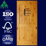 2 Panel-Bogen/quadratische Spitzenerle-festes Holz-Tür