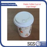 Wegwerffirmenzeichen-Papiercup mit Plastikdeckel-Kappe
