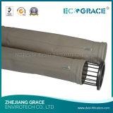 Высокотемпературный упорный мешок воздушного фильтра ткани фильтра Nomex для промышленного дыма боилера