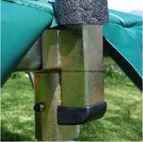[10فت] [ترمبولين] خضراء مستديرة مع 4 ساق وأمان إحاطة شبكة