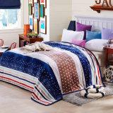 Cobertor coral impresso macio super do velo do cobertor da flanela da venda quente (SR-B170318-6)